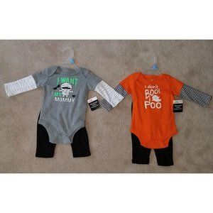 NWT 2 Halloween Infant Baby Outfit Lot 3-6 Months